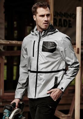 Picture of Syzmik Workwear-ZJ380-Unisex Streetworx Reflective Waterproof Jacket