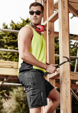 Picture of Syzmik Workwear-ZS240-Mens Streetworx Stretch Work Board Short