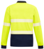 Picture of Syzmik-ZH530-Unisex Hi Vis Segmented L/S Polo - Hoop Taped