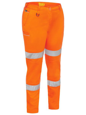 Picture of Bisley Workwear-BPL6015T-Womens Taped Stretch Cotton Pants