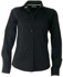 Picture of Identitee-W23(Identitee)-Ladies Long Sleeve Stretch Shirt with Self Trim