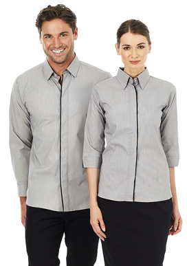 Picture of Identitee-W28(Identitee)-Ladies 3/4 Sleeve Stretch Shirt with Concealed Placket