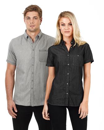 Picture of Identitee-W49(Identitee)-Men's Short Sleeve Denim Shirt