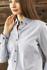 Picture of Identitee-W66(Identitee)-Ladies Long Sleeve Garment Washed Oxford Shirt