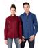 Picture of Identitee-W70 (Identitee)-Ladies Long Sleeve Plaid Check Shirt