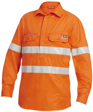 Picture of Hardyakka-Y04150-FIRE RETARDENT CLOSED FRONT SHIRT LONG SLEEVE HI VIS TAPE